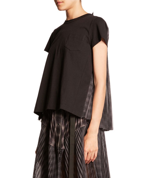 Ombre Check-Back T-Shirt