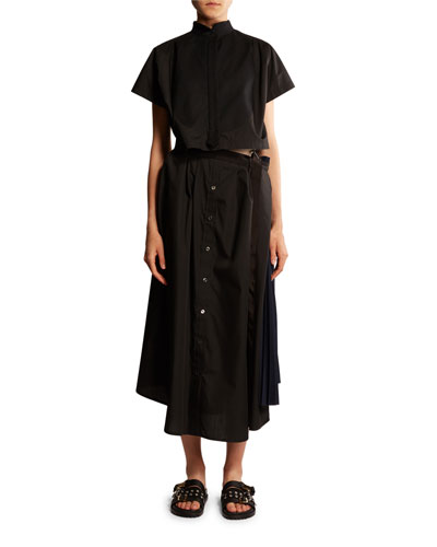 Oversized Pleated Detached Dress