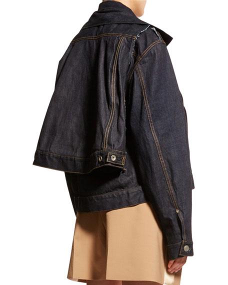 Oversized Two-Layer Denim Jacket