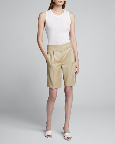 Wool Suiting Knee Shorts