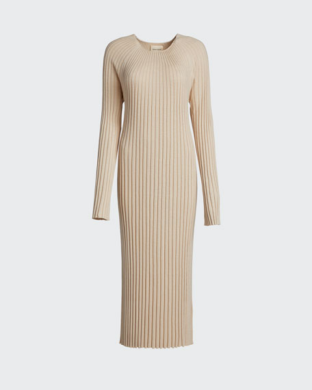 Ribbed Maxi Sweater Dress
