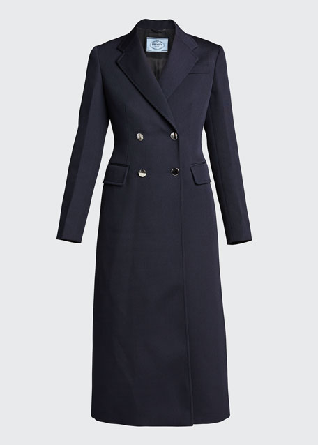 Gabardine Double-Breasted Coat