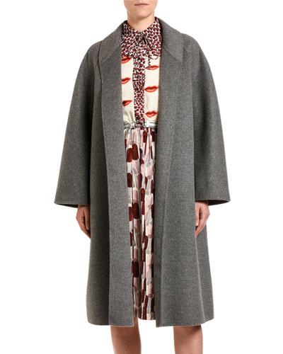 Cashmere-Angora Opera Coat