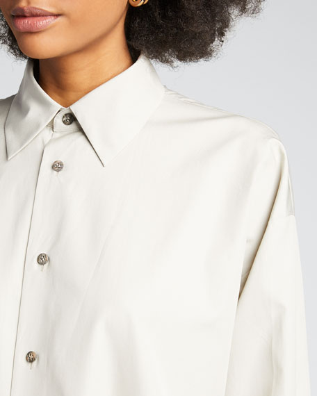 Cotton Slim A-Line Shirt