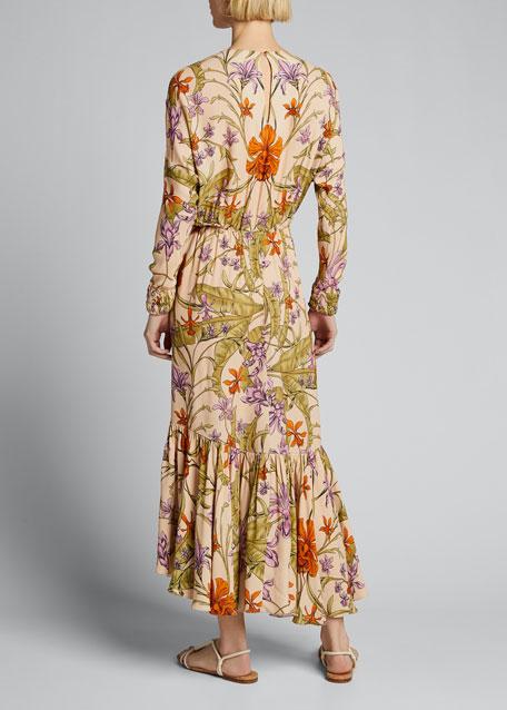 Chosen Elements Ruffle-Hem Jersey Dress