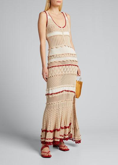 Crochet Striped Dress