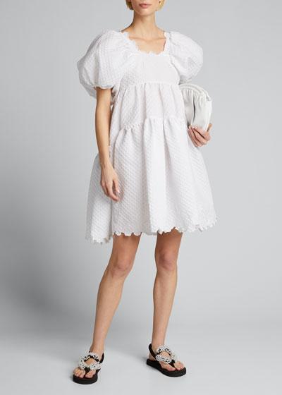 Puff-Sleeve Babydoll Dress