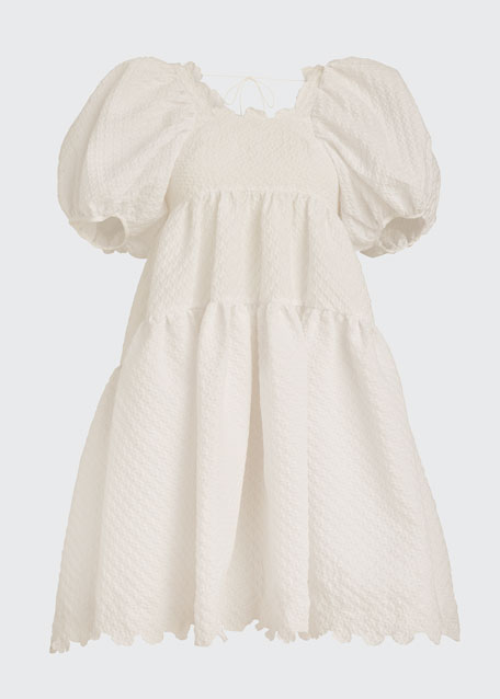 Puff-Sleeve Babydoll Dress