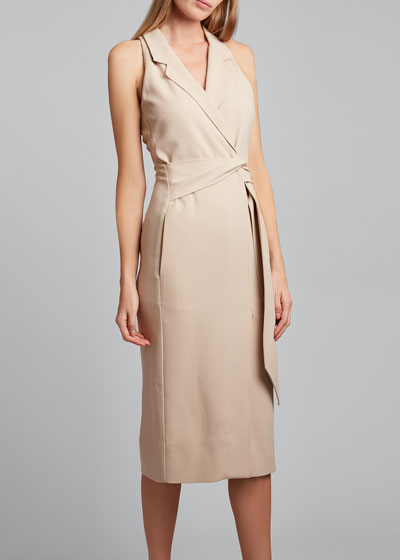 Lennon Sleeveless Wrapped Blazer Dress
