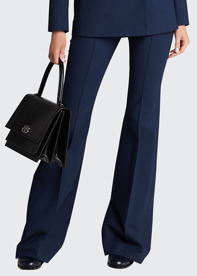 Pintucked Flare Pants