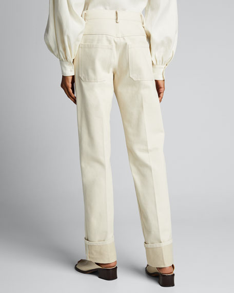 Mary Cotton Straight-Leg Jeans