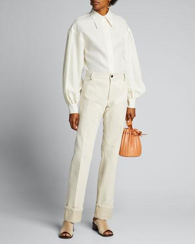Mary Cotton Straight-Leg Jeans