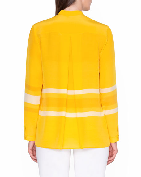 Monochrome Striped Tunic Shirt