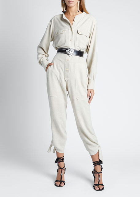 Image 1 of 1: Silk High-Neck Jumpsuit