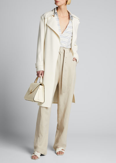 Belted High-Rise Trousers