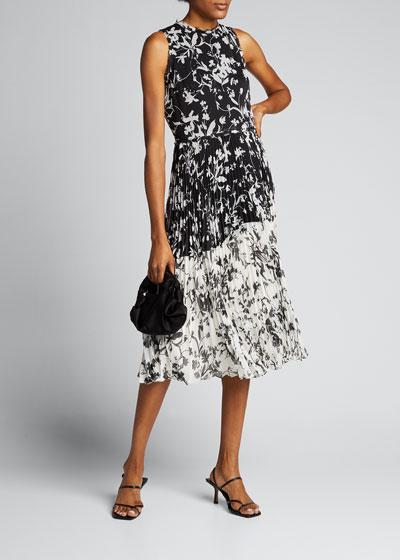 Floral Crinkle Chiffon Dress