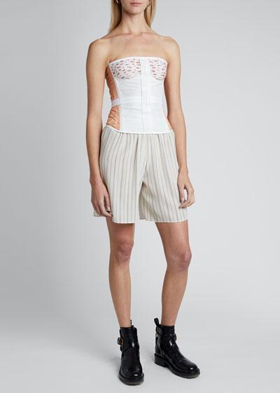Strap Crepe de Chine Shorts