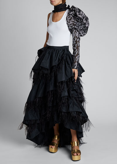 Layered Feather Skirt