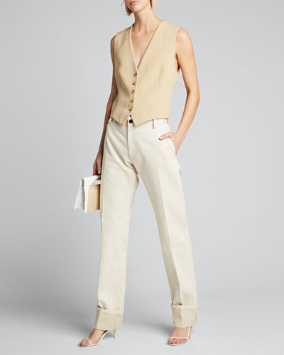 Angelina Button-Front Vest