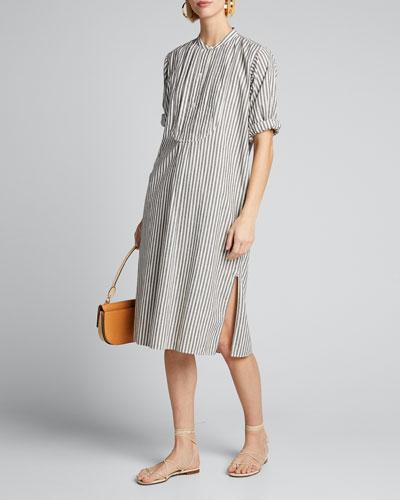 Samantha Striped Shirtdress