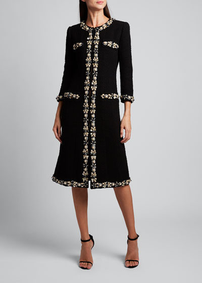 Fitted Embroidered Coat