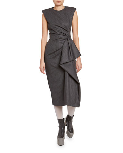 Ruched-Side Dress