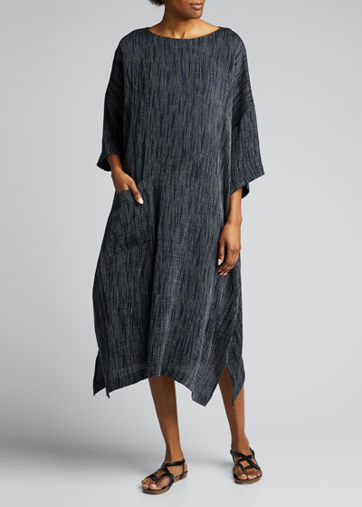 Linen Scoop-Neck T-Shirt Dress