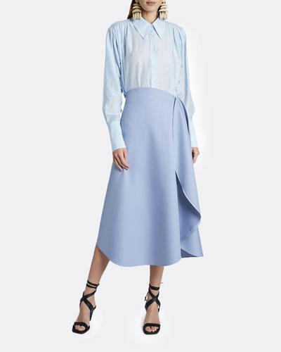 Ruffled Side Maxi Skirt