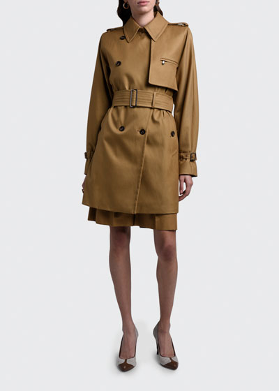 Attuale Belted Cotton Trench Coat