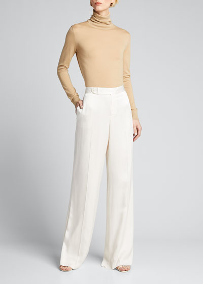 Hailey Draped Satin Pants