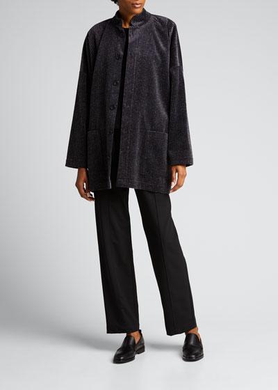 Wide Mandarin Long Coat