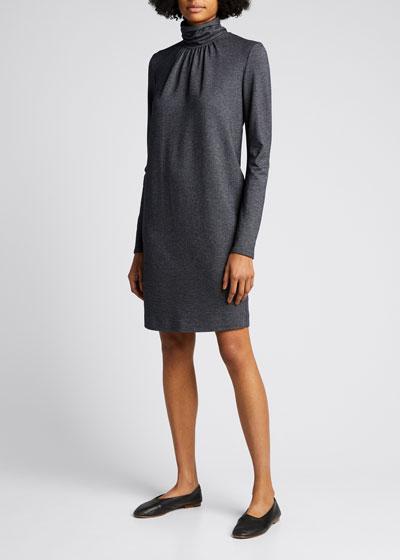 Maniero Turtleneck Wool-Blend Dress