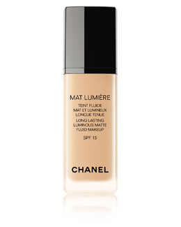 CHANEL MAT LUMIERE LONG LASTING LUMINOUS MATTE FLUID MAKEUP SPF 15