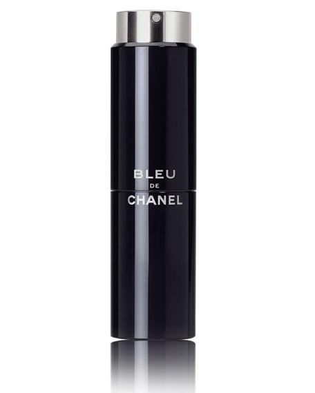 <b>BLEU DE CHANEL</b><br> Eau de Toilette Refillable Travel Spray 3 X 0.7 oz./ 20 mL