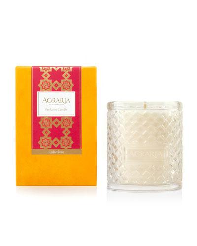 Cedar Rose Woven Crystal Perfume Candle, 7 oz.