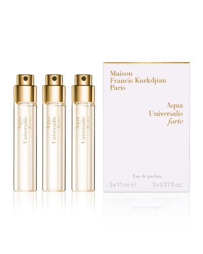 Aqua Universalis forte Eau de Parfum Travel Spray Refills, 3 x 0.37 oz./ 11 mL