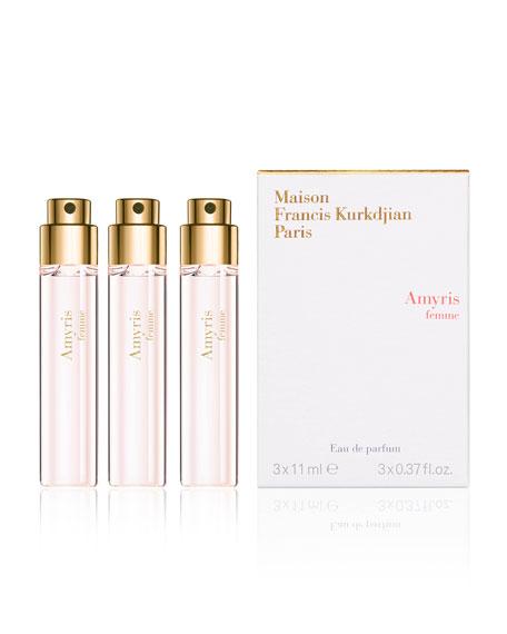 Amyris femme Eau de Parfum Travel Spray Refills, 3 x 0.37 oz./ 11 mL
