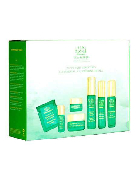 Tata's Daily Essentials Natural Antiaging Skincare Discovery Kit