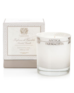 Damascena Rose, Orris & Oud Round Scented Candle