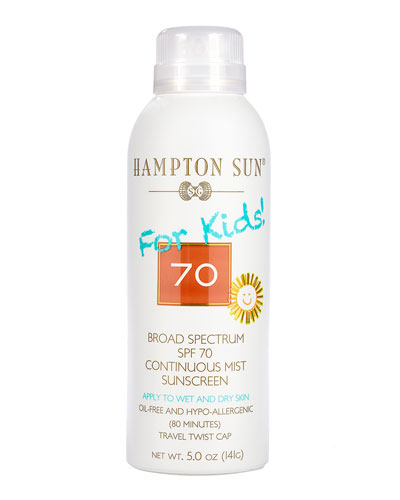 SPF 70 For Kids! Continuous Mist