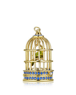 Limited Edition Private Collection Tuberose Gardenia Gilded Birdcage Solid Perfume
