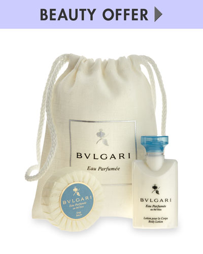 Yours with any $125 BVLGARI purchase—Online only*