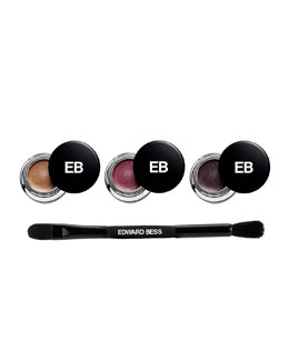 Expressionist Whipped Liner and Shadow Wardrobe with Dual Ended Brush