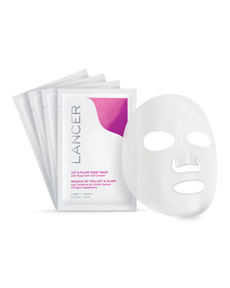 Lift & Plump Sheet Mask with Vegan Stem Cell Complex, 4 Count