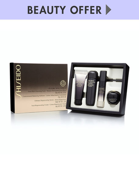 Receive a free 4-piece bonus gift with your $200 Shiseido purchase