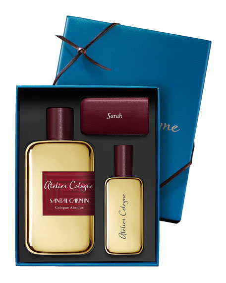 Santal Carmin Cologne Absolue, 200 mL with Personalized Travel Spray, 1.0 oz./ 30 mL