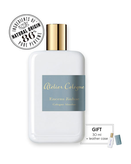 Encense Jinhae Cologne Absolue, 200 mL with Personalized Travel Spray, 1.0 oz./ 30 mL