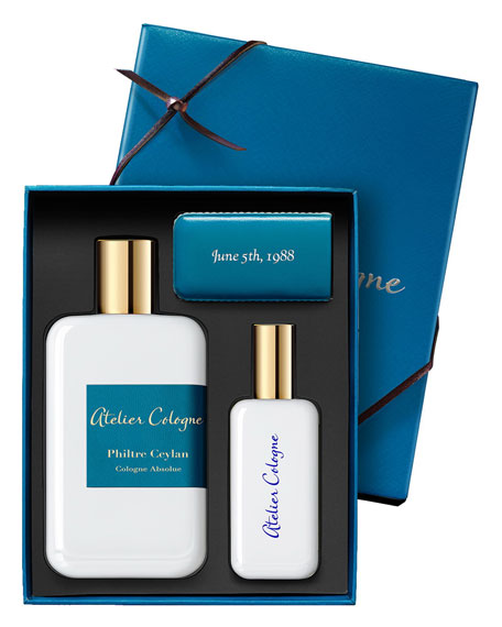 Exclusive Philtre Ceylan Cologne Absolue, 200 mL with Personalized Travel Spray, 1.0 oz./ 30 mL