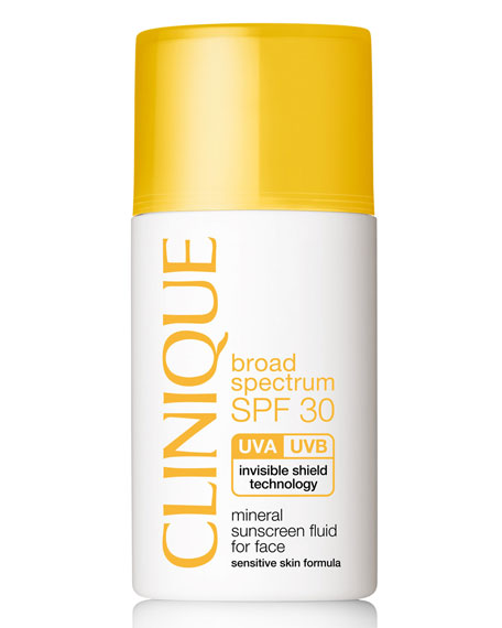 Mineral Sunscreen Fluid for Face Broad Spectrum SPF 30, 1.0 oz.