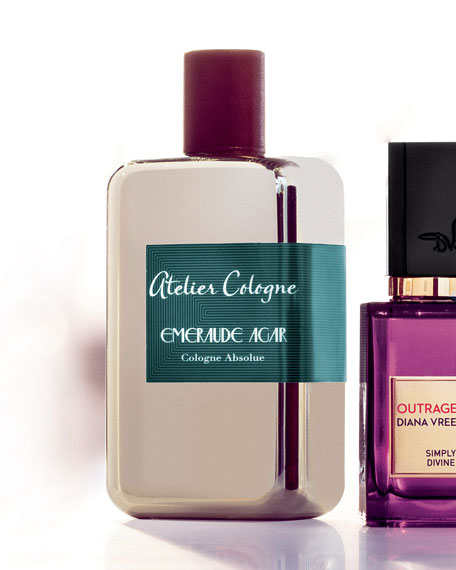 Exclusive Emeraude Agar Cologne Absolue, 200 mL with Personalize Travel Spray, 30 mL